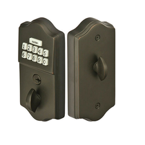 Emtek E1000 Keypad Brass Deadbolt shown in Oil Rubbed Bronze (US10B)