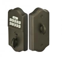 Emtek E1000 Keypad Brass Deadbolt shown in Oil Rubbed Bronze (US10B)