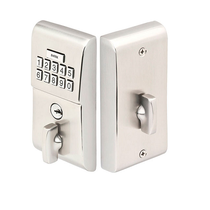 Emtek E1020 Modern Brass Keypad Deadbolt shown in Satin Nickel (US15)