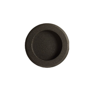 Emtek Round Flush Pull Flat Black Patina (FB)