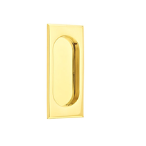 Emtek Rectangular Flush Pull Lifetime Brass (PVD)