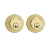 Emtek Regular Style Brass Double Cylinder Deadbolt Polished Brass (US3)