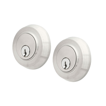 Emtek S50002 Round Double Cylinder Deadbolt Brushed Stainless Steel (SS)