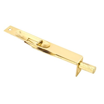 "Emtek Solid Brass Flush Bolt 6"" square corner Polished Brass (US3)"
