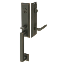 Emtek 4211 Wilshire Handleset with Milano Lever Oil Rubbed Bronze (US10B)