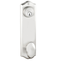 "Emtek 8990, 8991, 8995 Colonial 9"" Keyed Style Sideplate Satin Nickel"