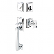 Emtek 4213 Hamden Handleset with Windsor Crystal Knob