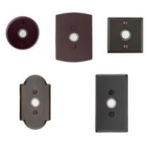 Emtek 2421, 2422, 2423, 2424, 2425 Sandcast Bronze Doorbell Button