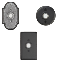 Emtek 2431, 2432, 2433 Wrought Steel Doorbells