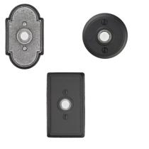 Emtek 2431, 2432, 2433 Wrought Steel Doorbells
