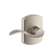 Schlage F10ACC619GRW Accent Passage Door Lever Set with Greenwich Rose