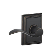 Schlage Accent Lever with Addison Decorative Rose in Aged Bronze