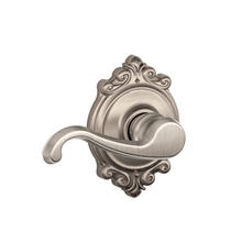Schlage Callington Lever with Brookshire Decorative Rose Satin Nickel
