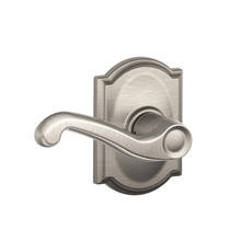Schlage F10FLA619CAM Flair Passage Door Lever Set with Camelot Rose