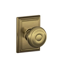 Schlage F10GEO609ADD Georgian Passage Door Knob Set with Addison Rose