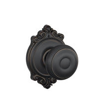 Schlage F10-GEO-BRK Georgian Passage Door Knob Set with Brookshire Rose (622)