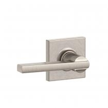 Schlage F10-LAT-COL Latitude Passage Door Lever Set with Collins Rose
