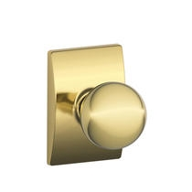 Schlage F10-ORB-CEN Orbit Passage Door Knob Set with Century Rose (605)
