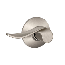 Schlage F10SAC619 Sacramento Passage Door Lever Set Satin Nickel