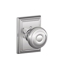 Schlage F170GEO625ADD Georgian Single Dummy Door Knob with Addison Rose