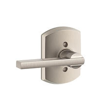 Schlage F170LAT619GRW Lattitude Single Dummy Door Lever Set with Greenwich Rose