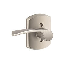Schlage F170MER619GRW Merano Single Dummy Door Lever Set with Greenwich Rose