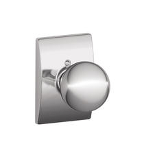 Schlage F170-ORB-CEN Orbit Single Dummy Door Knob with Century Rose (625)