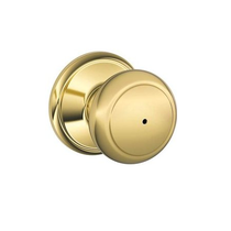 Schlage F40 And Privacy Bright Brass 605
