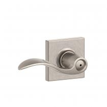 Schlage F40-ACC-COL Accent Privacy Door Lever Set with Collins Rose