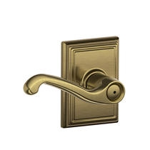 Schlage F40FLA609ADD Flair Privacy Door Lever Set with Addison Rose