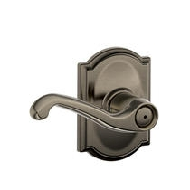 Schlage Flair Lever with Camelot Decorative Rose in Antique Pewter (620)