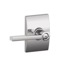 Schlage Latitude Lever with Century Decorative Rose Bright Chrome