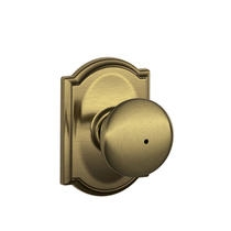 Schlage F40PLY619CAM Plymouth Privacy Door Knob Set with Camelot Rose