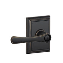 Schlage F40VLA716ADD Avila Privacy Door Lever Set with Addison Rose