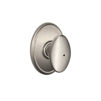 Schlage F40SIE619WKF Siena Privacy Door Knob Set with Wakefield Rose