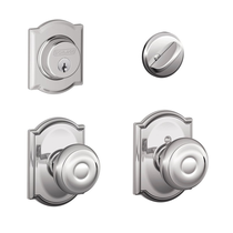 Schlage F57 F59 GEO/CAM Camelot Single Cylinder Deadbolt with Georgian Knob
