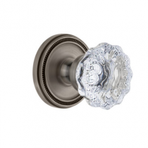 Grandeur Fontainebleau Knob with Soleil Rose Antique Pewter (AP)