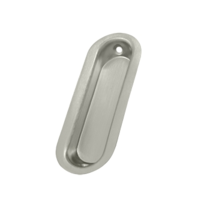 Deltana FP223-15 Oblong Flush Pull Satin Nickel