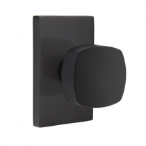 Emtek Urban Modern Freestone Knob Set with Modern Rectangular Rose