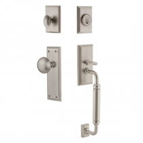 Grandeur Fifth Avenue Handlest with C Grip in Satin Nickel (SN)