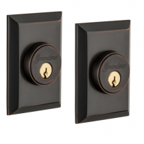 Grandeur Fifth Avenue Double Cylinder Deadbolt Timeless Bronze (TB)