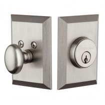 Granduer Fifth Avenue Single Cylinder Deadbolt Satin Nickel (SN)
