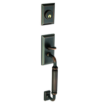 Grandeur Fifth Avenue Handleset shown in Timeless Bronze