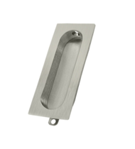 Deltana FP222-15 Rectangular Flush Pull Satin Nickel