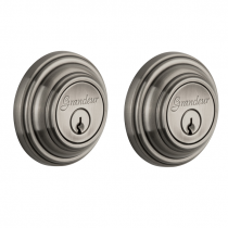 Grandeur Georgetown Double Cylinder Deadbolt Antique Pewter (AP)