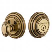 Grandeur Georgetown Single Cylinder Deadbolt Vintage Brass (VB)