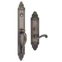 Omnia Georgica Mortise Entrance Handleset w/Classico Collection Interior
