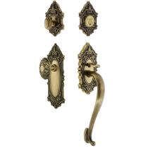 Grandeur Grande Victorian Handleset with S Grip Vintage Brass (VB)