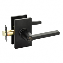 Emtek Helios 5123 Key in Lever with Modern Rectangular Rose in Flat Black