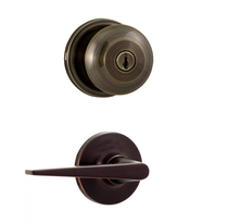 Weslock 640I-2 Impresa Keyed Entry Knob on Exterior with Urbana Lever on interio